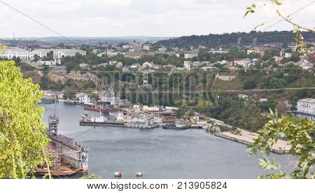 View of the Sevastopol and Yuzhnaya Bay. Crimea