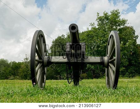 Front View Historic Cannon Artillery
