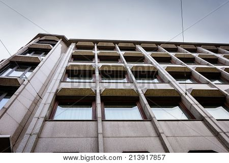 abstract view on a modern fassade of a house