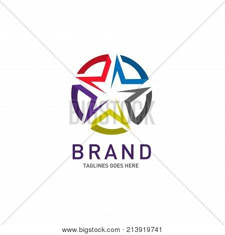 Abstract star business identity logo template. Star vector logo design branding corporate identity. Simple modern star vector .