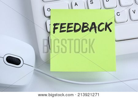 Feedback Contact Customer Service Opinion Survey Review Business Concept Mouse