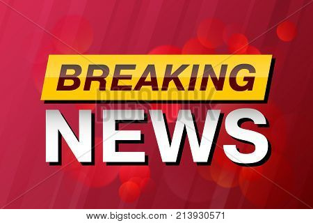 Breaking News, TV screen saver, vector background. Technology News Background