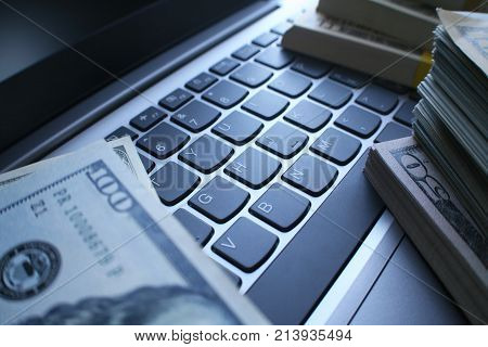 Entrepreneurship With Online Business Profits High Quality Stock Photo