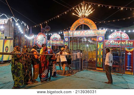 Pushkar, India, October 29, 2017 : In Addition To The Animal Trading Market, Pushkar Holds A Festiva