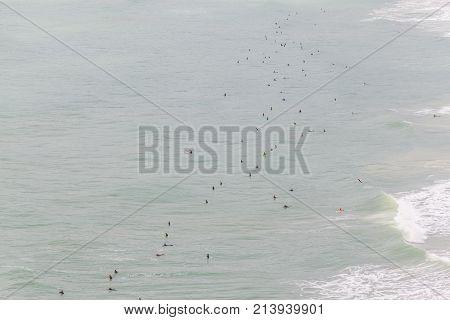 Surfers In Costao Do Santinho Beach