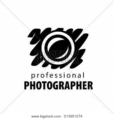 vector logo for photographer. Illustration drawn camera