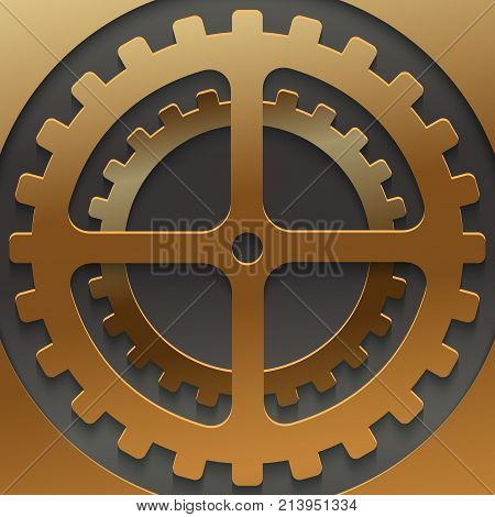Vector modern mechanism background design. business gears