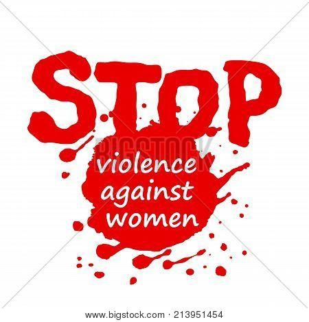Poster or banner design for international day for the elimination of violence against women. Vector illustration eps10.