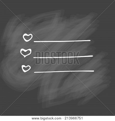 Check list vector icon. Hand drawn task list with check marks and check boxes .  To do list isolated on white background. Outline. Doodle. Chalk