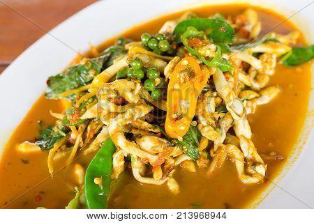 Solenidae Or Clam Razor Shell Stir Spicy