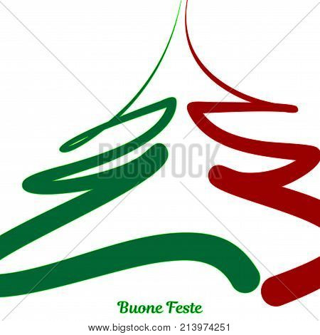 Christmas background with decorations of the colors of the Italian flag