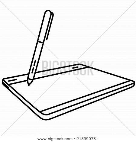 Graphic Tablet (also known as a digitizer, drawing tablet, digital drawing tablet, pen tablet, or digital art board) is a computer input device that enables a user to hand-draw images, animations and graphics, with a special pen-like stylus, similar to th