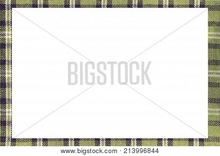 Green Tartan Type Scottish Frame With A White Space To Write A M