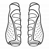 Bicycle Grips. Ergonomic and padded grips absorb road and trail vibration and help prevent hand-pain on longer rides. poster
