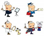 People Of Different Professions Cartoon Character Collection poster