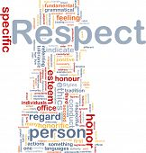 Background concept wordcloud illustration of respect poster