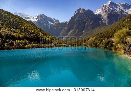 Lanyuegu National Park Or Blue Moon Valley These Are Four Lakes And Amazing Waterfalls With Natural