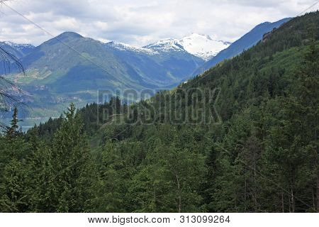 Mountains Above The Howe Sound, British Columbia