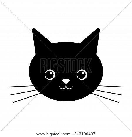 Cute Black Cat Vector Photo Free Trial Bigstock