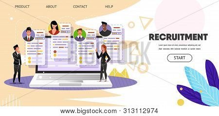 Recruitment. Online Job Search. Web, Landing Page. Website Hr Business Consulting, Employment Agency