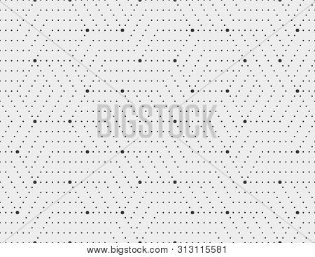 Abstract Dots Stripes, Line Seamless Pattern. Neutral Monochrome Business Background, Black Grey Col