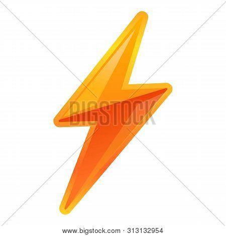 poster of Vibrant lightning bolt icon. Cartoon of vibrant lightning bolt icon for web design isolated on white background