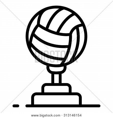 Volleyball Cup Icon. Outline Volleyball Cup Icon For Web Design Isolated On White Background