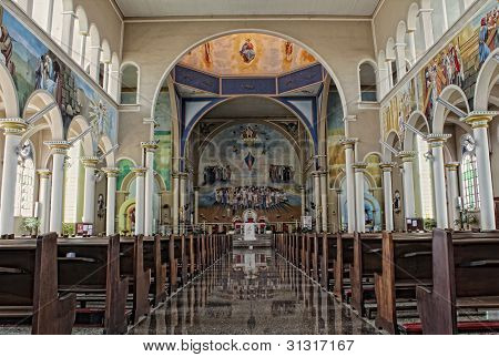 Inside Of A Catholic Cathedral