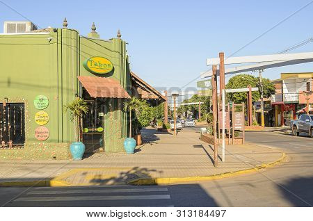 Bonito - Ms, Brazil - June 24, 2019: Famous Taboa Bar And Boutique On The Corner That Sells Typical