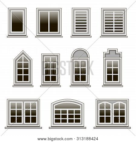 Set Modern Windows Vector Photo Free Trial Bigstock