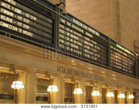 Grand Central Departure Board