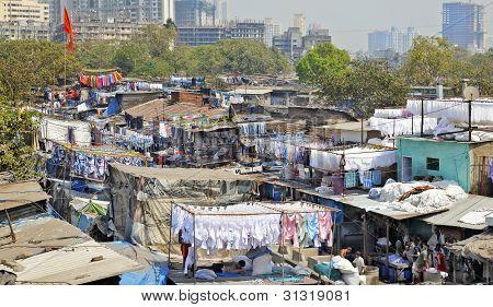 Dhobhi Ghat Mumbai Skyline