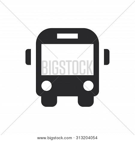 Bus Front Icon Isolated On White Background. Bus Front Icon In Trendy Design Style For Web Site And