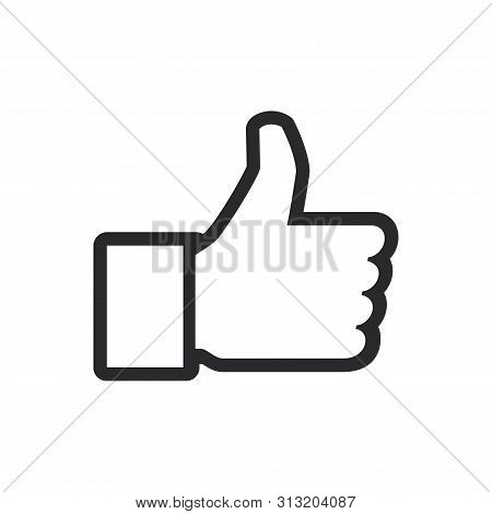 Thumb Up Icon Isolated On White Background. Thumb Up Icon In Trendy Design Style For Web Site And Mo