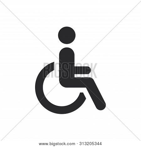 Disabled Icon Isolated On White Background. Disabled Icon In Trendy Design Style For Web Site And Mo