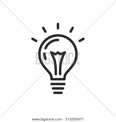 Light Bulb Icon Isolated On White Background. Light Bulb Icon In Trendy Design Style For Web Site An