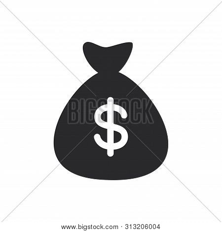 Money Bag Icon Isolated On White Background. Money Bag Icon In Trendy Design Style For Web Site And