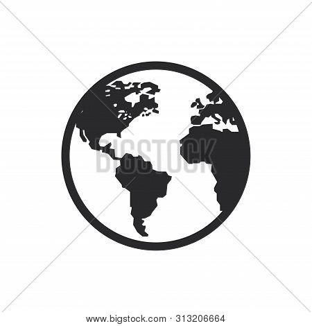 World Icon Isolated On White Background. World Icon In Trendy Design Style For Web Site And Mobile A