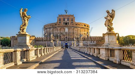 Holy Angel Castle, Also Known As Hadrian Mausoleum, Rome, Italy