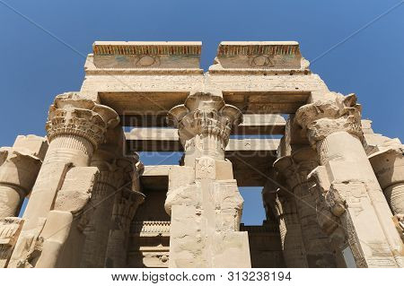Front Of Kom Ombo Temple In Aswan, Egypt