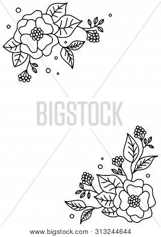 Spring Floral Background. Vintage Menu.vector Floral Design Card. Abstract Flower Pattern. Modern St