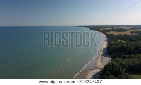Aerial View Of Coastline Jurkalne Baltic Sea Latvia