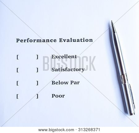 Performance evaluation or appraisal form to be filled poster