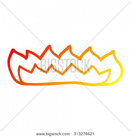 warm gradient line drawing of a cartoon gas flame