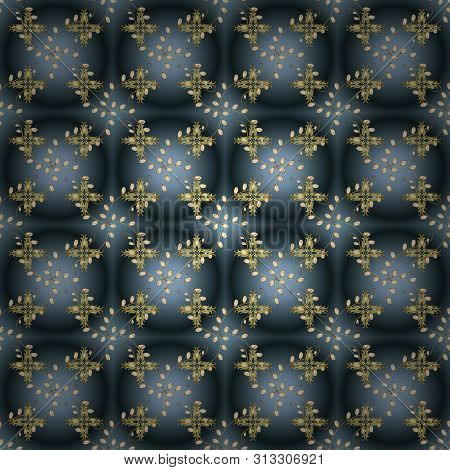 Seamless Pattern Elegant Decorative Ornament For Fashion Print, Scrapbook, Wrapping Paper, Sketch. P
