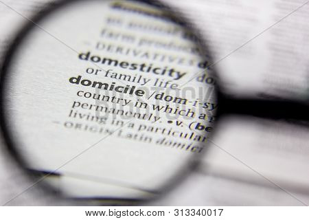 Word Or Phrase Domicile In A Dictionary