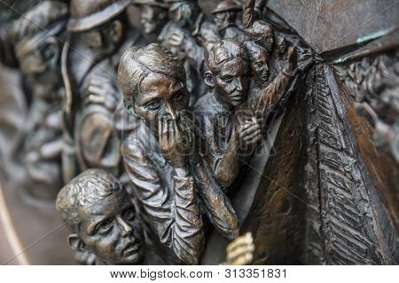 St Pancras Station, London, United Kingdom, July 17th 2019, The Meeting Place Sculpture