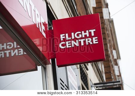 London, United Kingdom, 17th July 2019, Flight Centre Sign In Central London