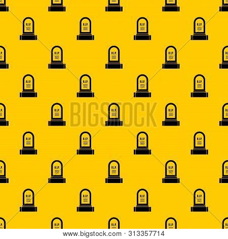 Headstone Pattern Seamless Vector Repeat Geometric Yellow For Any Design