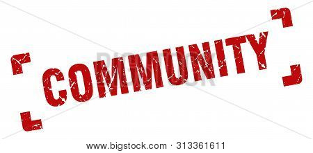 Community Stamp. Community Square Grunge Sign. Community